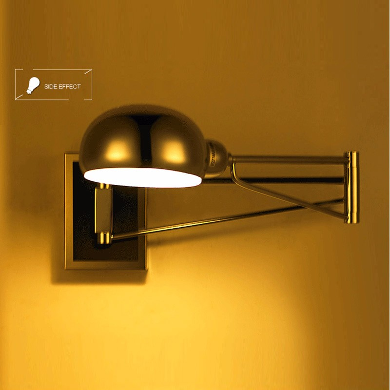 2018 chrome wall sconce bedside wall fixtures lighting for bedroom 2018 chrome wall sconce bedside wall fixtures lighting for bedroom modern swing arm lamp reading lights mirror e14 led arandela from hogon 9847 dhgate aloadofball Gallery