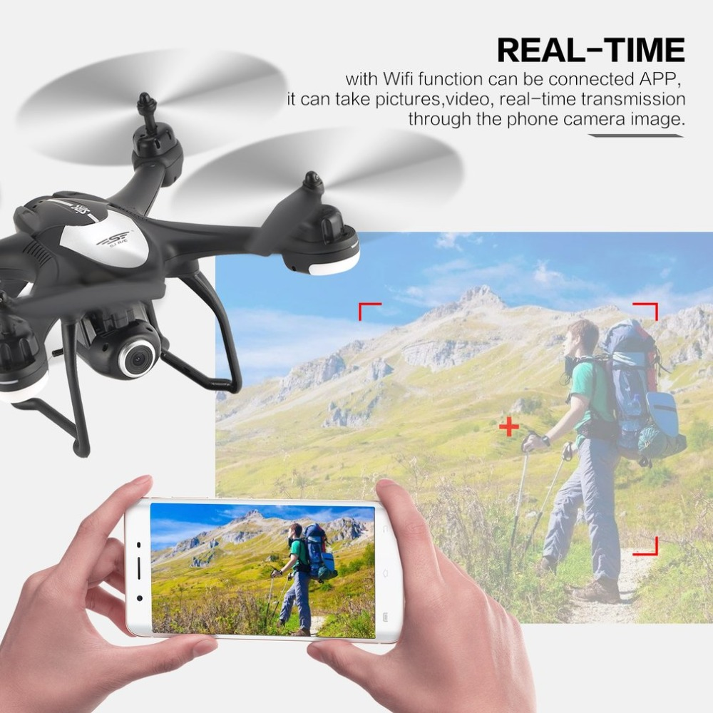SJ R/C S30W 2.4G Dual GPS Positioning FPV RC Quadcopter Drone with 7P Adjustable Wide Angle Wifi Camera Follow Me Hovering 6