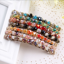 New Fashion Korean Elegance Girls Headband Beauty Crystal Diamonds Barrette Hair Clip For Women Hairpin Hair Accessories Jewelry