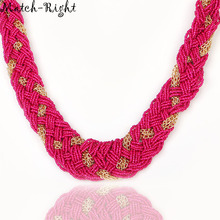 Match-Right Women Necklace Bohemia Statement Necklaces Pendants Trendy Jewelry Beads Necklace Women Accessories For Gift NL552