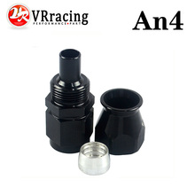 VR RACING - Black High Quality PTEF AN4 AN-4 Straight REUSABLE SWIVEL TEFLON HOSE END FITTING AN4 VR-SL6000-04-021