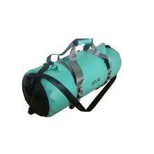 GZLBO 50L Waterproof Circle Travel Bag Backpack PVC Mint Green Ultralight Bicycle Backpacks Folding Roll Top Travel Duffel Bag(China)