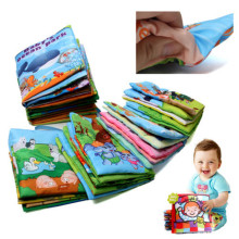 6pcs/set Baby Rattles & Mobiles Toys Infant Kids Early Development Cloth Books Colorful Educational Toys Gifts for Children(China)