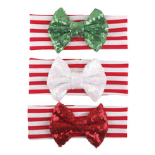 Baby Girls Bow Headband Newborn Photography Props Baby Infants Headband Children Christmas Hair Accessories
