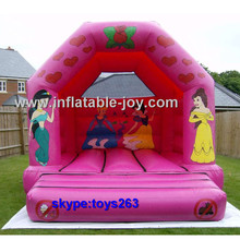 girls party princess theme inflatable bouncer, cheap moonwalk for kids, durable inflatable bouncer castle, jumping castles(China)