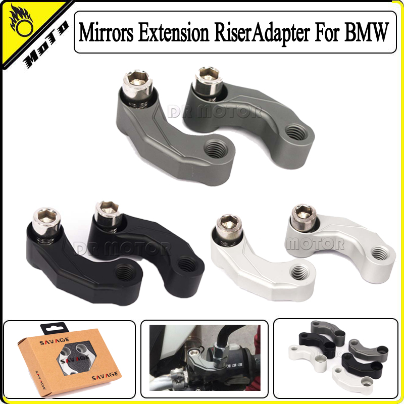 Motorcycle Mirror Riser Relocation Extension Adapter Adaptor Kit For BMW R1200GS LC 2013-2016, R1200GS Adventure  2014-2016<br><br>Aliexpress
