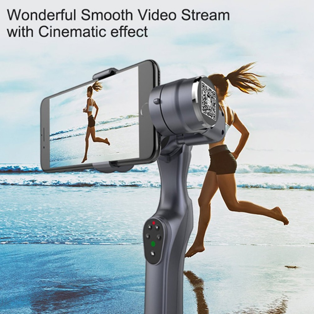 JJ-1S 2-axis Smartphone Brushless Handheld Gimbal Tray Stabilizer for GOPRO/YI/SARGO/MEEE GOU Sport Action Camera 5