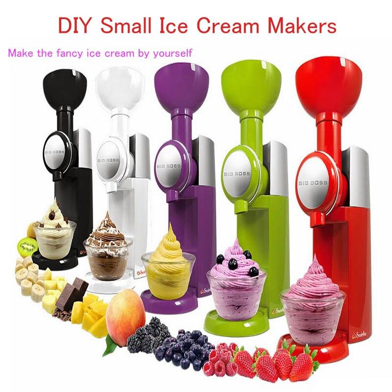DIY Small Ice Cream Makers  Electric Milkshake Machine Portable Soft Ice Cream Machine Household Frozen Fruit Dessert Maker<br>