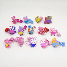 14pcs/lot Cartoon Elephant Elastic Hair Bands Silicone Rubber Animal Animation Hairband Appealing Woodland Party Gift Head Wear(China)