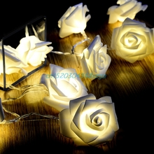 Ball String Lamps LED Home Garden Christmas Decoration Rose Lamps Christmas/Fairy Wedding/Party Decoration Lights Lamps #H028#