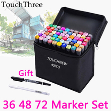 36/48/72 Colors Touch marker Set Oily Based Double Head Copic Sketch Markers Drawing for Student Manga Dessin marcador caneta