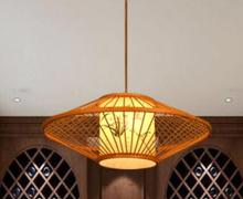 Chinese style Wooden antique parchment restaurant pendant lamp room Restaurant southeast bamboo Retro pendant lights zb31(China)