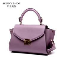 SUNNY SHOP  Brand Designer  Genuine Leather Women Bags Fashion Real Leather Luxury Handbags Women Bags Designer Shoulder Bags