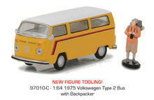 Green Light 1:64 1975 vw Type 2 Bus boutique alloy car toys for children kids toys Model original box