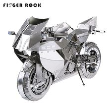 Finger Rock Motorcycle Vehicle Model Building Kits DIY Assembly 3D Metal Jigsaws Puzzles Laser Cutting Metal Sheets Gift Present