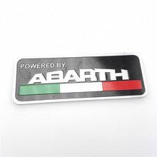 CAR-STYLING 80*30mm abarth Labeling Car Aluminum Alloy Badge Sticker Emblem Decal car stickers For FIAT 500 Punto Stilo 124 125(China)