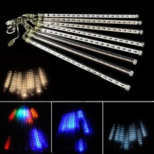 String Lights Waterproof Falling Rain Fairy Lights With 144 LED 8 Tubes Meteor Shower Rain LED Christmas Lights for Wedding Part