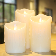 1Pcs Flickering Flameless Candles with scented bougie velas LED Candle Lamp Electronic for home party birthday Wedding Decor