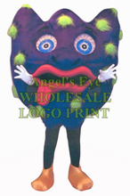 GERM mascot costume adult new custom purple bacteria bacterium germ health theme anime cosplay costumes advertising fancy dress(China)