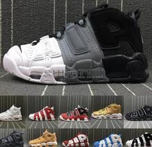 2018 Air więcej 96 QS Olympic Varsity Maroon Mens Basketball Buty CHI black gold Tematy 3 m Scottie Pippen Uptempo sneakers 41-47(China)