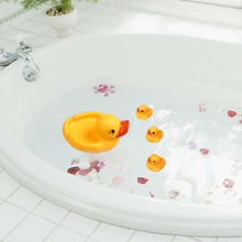 1 Set/ 4pcs Cute Baby Bathtime Bathing Toys Rubber Race Squeaky Ducks Ducklings Yellow Classic Toys Reborn Gift(China)