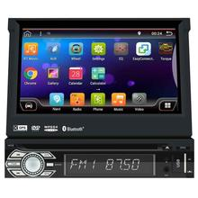 Android 6.0 Single Din, Bluetooth, DVD/CD/MP3/USB/SD AM/FM Car Stereo GPS Navigation, 7 Inch Digital LCD Monitor Wireless Remote