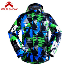 Wild Snow Waterproof Men's Ski Jacket Breathable Snowboard Jacket for Men Winter Outdoor Thermal Coat Snow Clothing Warm Coat