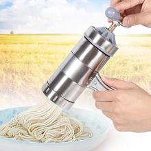 Portable Manual Operated Stainless Steel Pasta Maker Noddle 5 Noodles Press Juicer Pressure Making Machine Cooking Tools