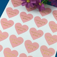 "300PCS/Lot Printed on the is""handmade with love"" labels Sticker Labels paper Labels sealing Stickers packaging For Jewelry/Box"