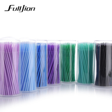 Fulljion 100Pcs/Pack Disposable Makeup Brushes Individual Lash Removing Tools Swab Micro brushes Eyelash Extension Tools(China)