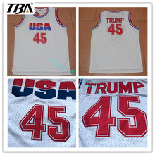 Buy TBA Mens Cheap Throwback Basketball Jerseys,#45 USA Donald Trump 2017 Commemorative Edition White Color Basketball Jersey for $17.68 in AliExpress store