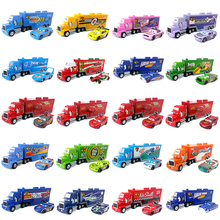 Disney Pixar Cars Mack Uncle Lightning McQueen King Francesco Chick Hicks Hudson Truck & Car Set 1:55 Diecast Model Toy Car Gift(China)