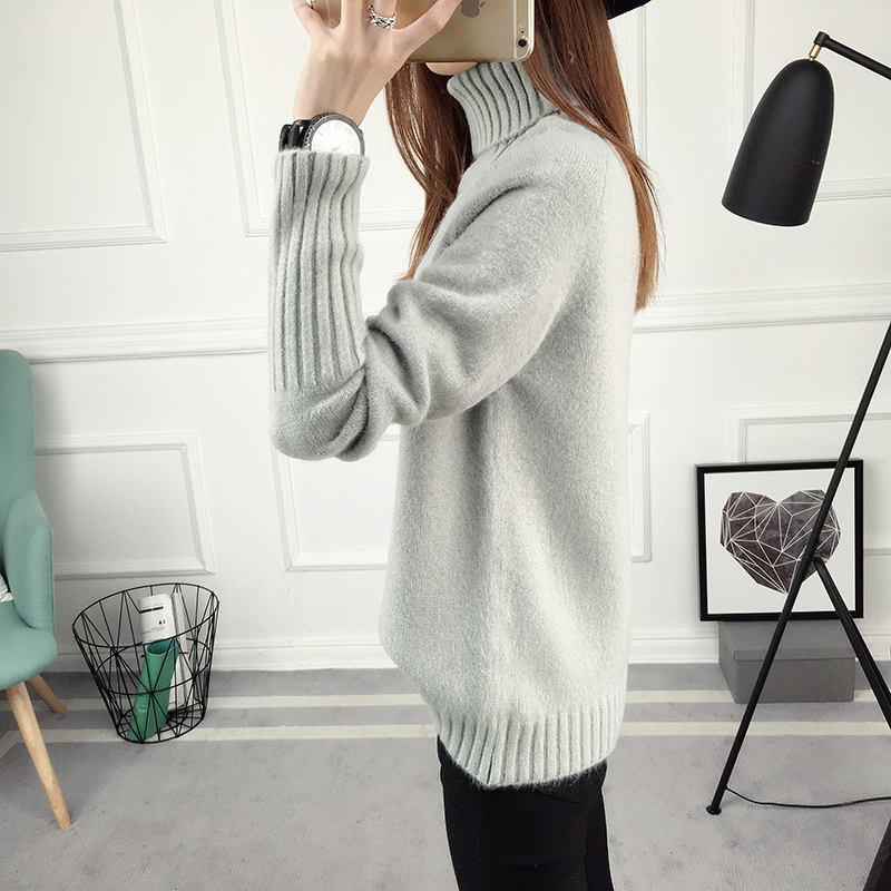 Winter Turtleneck Sweater, Women's 2017 New Design Thick Pullover 29