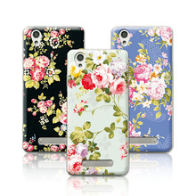 Luxury Floral Art Painted Case  ZTE Blade A452 A 452 Cover Flower Phone Case ZTE A452+Free Pen