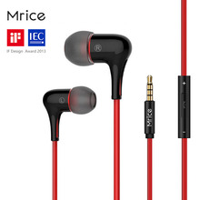 Original Brand Mrice E300 E300A In-Ear Earphone with Mic Capsule High Fidelity Stereo Earbuds Patent Designed for Xiaomi Samsung(China)