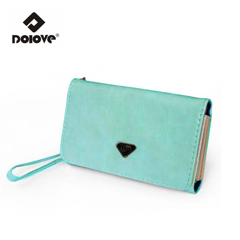 DOLOVE Mobile Phone Manufacturers Women Bag Lady Card Bag Korean Long Hasp Purse Selling Brand Handbags(China)