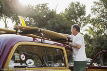 Soft rack carrier surfboard on car Roof free shipping(China)
