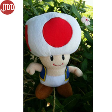 "New Super Mario Brother 8"" Red Mushroom Toad Plush Toy Animal Baby Doll Anime Gift for Kids Girl Collection"