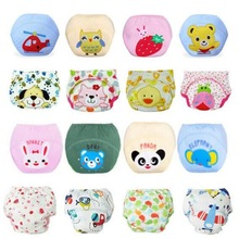 1 Piece Baby Training Pants Baby Diaper Reusable Nappy Washable Diapers Cotton Learning Pants 19 Designs Free Shipping(China)