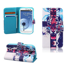 Cases Covers Phone Flip Wallet For SAMSUNG Galaxy S3 Leo Painted Pattern Book PU Leather Capa New Arrival Fashion Hot Sale(China)