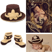 Amazing!Hot Fotografia Baby Boy Accessories Cute Cartoon Newborn Baby Clothing Set 100% Hand Knitting Newborn Photography Props(China)
