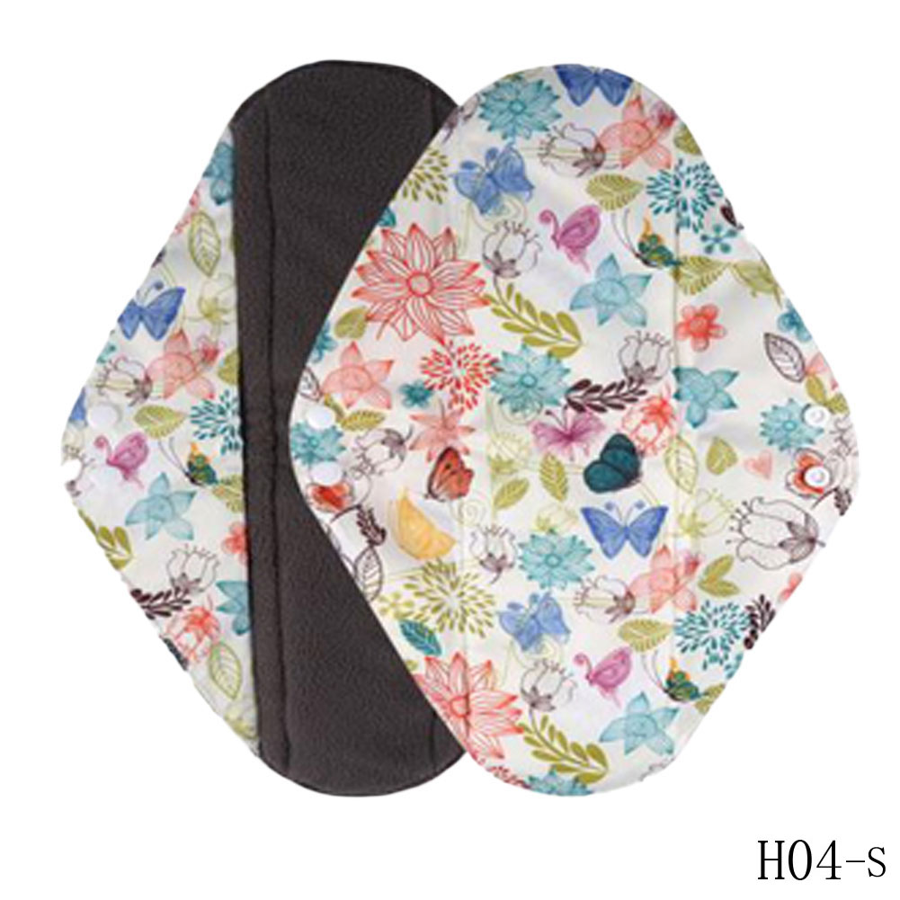 1pc New Arrival Women's Reusable Bamboo Cloth Washable Menstrual Pad Mama Sanitary Towel Pad Pretty Feminine Hygiene Product 5