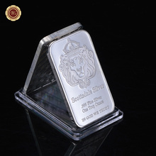 Non Magnetic Scottsale .999 Fine Bullion With serial number One Troy Ounce Silver Plated Bar