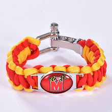 Maryland Terrapins Custom Paracord Bracelet NCAA College Football Charm Bracelet Survival Bracelet, Drop Shipping! 6Pcs/lot!(China)