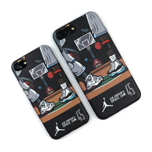 For Iphone 6 6plus 6s Plus 7 7plus 8 X Super Star Air Jordan 45 Soft Imd Cases Nba Sports Basketball All Inclusive Phone Cover(China)