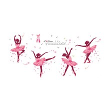 Best DIY Wall Sticker Butterfly Wall Decals Ballet Girl Poster Stickers for Home Decor Living Room Wall Decoration(China)