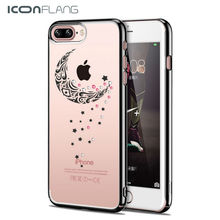 For iPhone 7 Case ICONFLANG Swarovski Coloured Diamond Cases PC Material Anti- Scratch For iPhone 7 Plus Cover