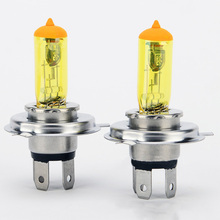 Universal Car Halogen H4 Headlight Bulbs Bright Golden Yellow Lights 100W / 90W 12V Lamp Auto Light Source External Lights
