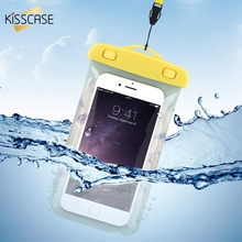 KISSCASE Waterproof Pouch Case For Xiaomi 6 Mi5 Case Xiaomi Redmi Note 4X 3 Universal Waterproof Case For iPhone Samsung Huawei(China)