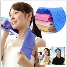 100 pcs/lot wholesale Neck Cooling Towel Headband Ice towels Summer water cool PVA hypothermia towel(China)